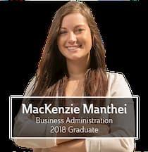 MacKenzie Lindstrom, Business Administration, 2018 Graduate